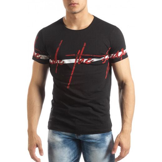 2882f0c8141 Lagos Мъжка тениска с принт в черно - Glami.bg